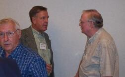 Bruce Downey talking with Johnny Green