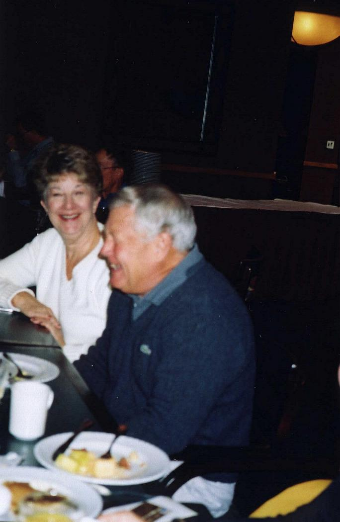 Jim Dunham with Mary Wheeler  looking on